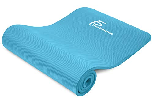 ProsourceFit 1/2-Inch Extra Thick 71-Inch Long High Density Exercise, Prenatal Yoga Mat with Comfort Foam and Carrying Straps