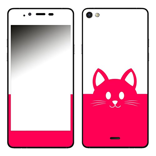 DISAGU SF-106283_1018 Design Folie für Wiko Highway Pure - Motiv Kawaii Katzengesicht pink