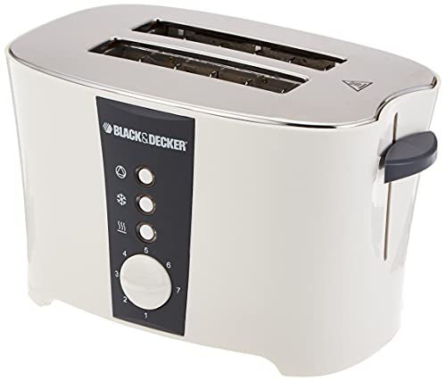 Black+Decker 2 Slice Cool Touch Toaster with Crumb Tray for Easy Cleaning, White – ET122-B5, 2 Years Warranty