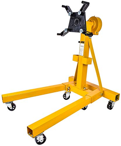 JEGS 80102 Folding Engine Stand w/Geared Rotating Head 1500 lb. Capacity Folds