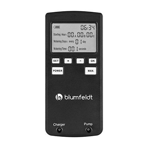 Blumfeldt Greenkeeper - Sistema de riego automático, Kit de Control Digital, Capacidad hasta 60 Plantas, Programable, Bomba de Agua, Sistema Uso de reservas de Agua, Manguera de Vinilo, Negro