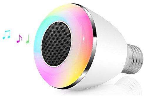 SPEQ LED Leuchte Lampe mit Lautsprecher Wecker Birne mit App E27 E14
