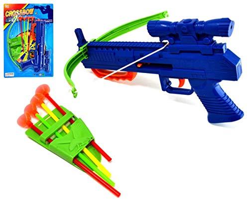 VENTURA TRADING per Bambini Set di tiro con L'Arco Balestra Gioco Target Gioco di tiro Set di Arco e frecce di tiro con L'Arco con 4 frecce a Ventosa Arco e Freccia