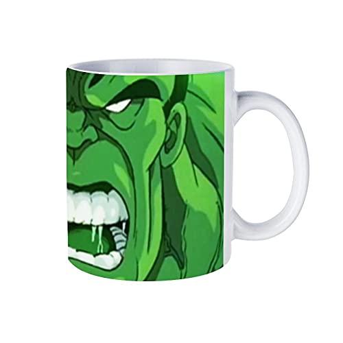 Superhero Hulk - Taza de café (porcelana blanca, 330 cc, para café, té, cacao)
