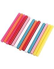 Hot Melt lijmstiften, 14 stuks mix kleur hot melt lijmstiften kit ambachtelijke bevestiging DIY gereedschap voor kunsthandwerk verwarming