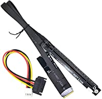 Gen3.0 PCIe 16x to M.2 NVMe GPU Graphic Extender for Bitcoin Mining ETH NVIDIA AMD Colorful GTX Adapter Card (45cm,R43SD-WK)