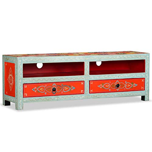 VidaXL 244595 mangohout massief televisiemeubel televisiemeubel tv-tafel lowboard, hout, één maat