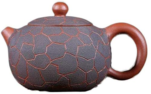 Hierro Fundido Conjunto electrónico del multímetro de Zisha Yixing Pot Mina Original Juego de té de Kungfu Patrón de Hielo XI Shi Pot Tradicional Hecha a Mano (Color: Cemento Claro) Decoración Hogar
