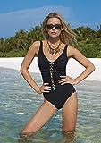 Sunflair, Badeanzug gefüttert ohne Bügel, schwarz/Multicolor, 46B