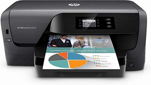 HP D9L63A – Officejet Pro 8210 – Drucker – Farbe – Duplex – Tintenstrahldrucker – A4 – 1200 x 1200 DPI – bis zu 22 ppm (Mono) / bis zu 18 ppm (Farbe) – Kapazität: 250 Blatt – USB, LAN, Wi-Fi (n)