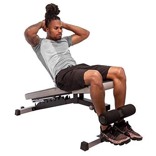 StrengthTech Fitness USA Made Adjustable Weight Bench   Fitness Gym Quality   Powder Coated Steel   Black