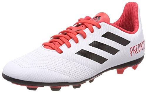 adidas Unisex-Kinder Predator 18.4 Fxg JR CP9241 Fußballschuhe, Mehrfarbig (Ftwr White/Core Black/Real Coral S18), 37 1/3 EU