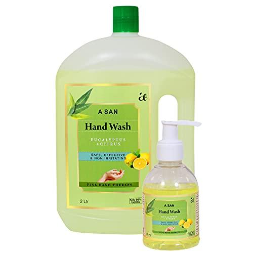 A SAN Combo Pack of Germ Protection Hand Wash (Eucalyptus + Citrus) (2 Litre)