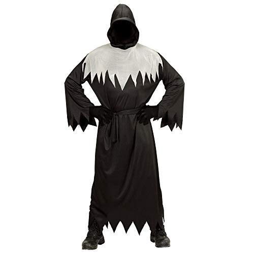 Widmann kinderkostuum Ghoul, robe met capuchon, onzichtbaar gezicht en riem 128 zwart
