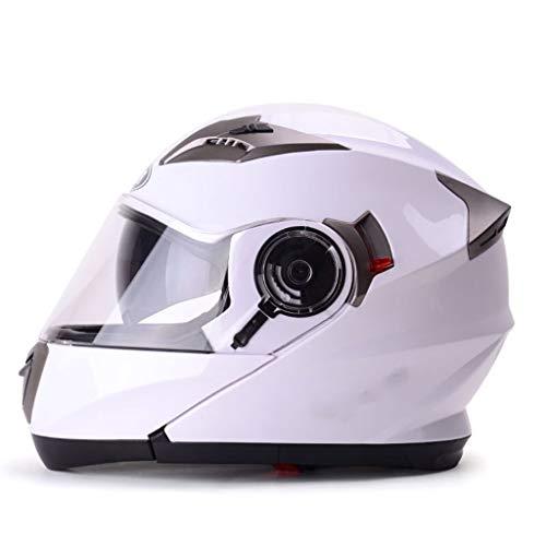 GHMH-helmet Casque de Moto Outdoor Casque Double Face Casque de sécurité Casque Unisexe (Taille : L)