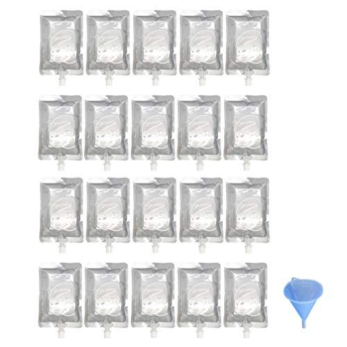 Cabilock 20 Unids Bolsa de Frascos Reutilizables Frascos de Plástico Ocultables Frascos de Plástico Bolsas con Embudo para Los Favores de La Fiesta de Halloween