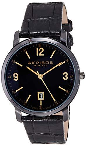 Akribos XXIV Reloj con Movimiento Cuarzo Suizo AK780BK 42 mm