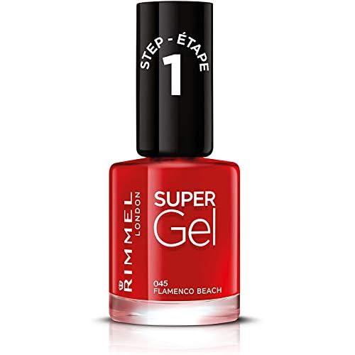 Rimmel - Smalto Unghie Super Gel - Nail Polish Effetto Gel a Lunga Durata - 045 Flamenco Beach - 12 ml