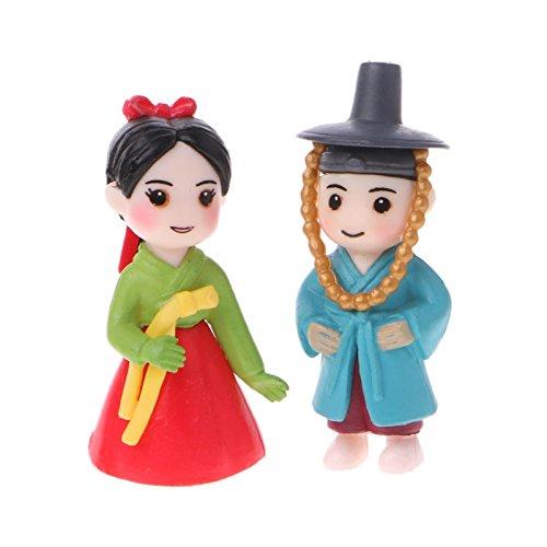 Les figurines miniatures d'amoureux coréens