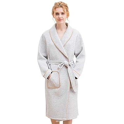 Tortor 1Bacha Womens Cotton Spa Bathrobe Kimono Robe Long Sleeves Sleepwear