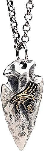 AOAOTOTQ Co.,ltd Necklace Vintage Arrowhead Flint Spear Head Pendant Necklace Egyptian Gold Eye of Horus for Men Women-Necklace Pendant Necklace for Women Men