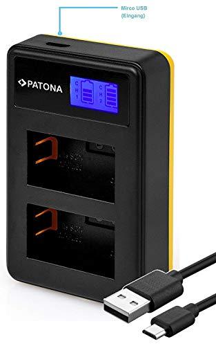 Patona 181964 - kompatibel für Akku Sony NP-FW50 - Mini LCD Dual Ladegerät (USB)