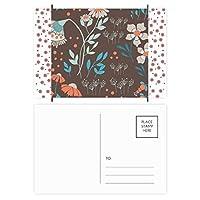 ブラウンの花の植物塗料 クリスマスの花葉書を20枚祝福する