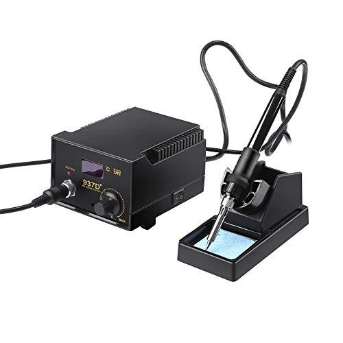 4YANG 937D - Estación de desoldador de aire caliente y 60 W para pistola de aire caliente, kit de soldadura digital, pantalla digital LED con temperatura ajustable de 200-480 °C
