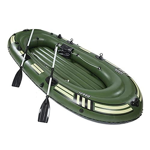 LANHA 3 Personas Barca Hinchable Barco De Canoa, con Bomba Y Remos Kayak Hinchable 1.1 Mm De Espesor Y Resistente Al Desgaste para Adultos Y Niños Barco Inflable Portátil