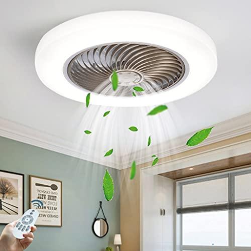 Ventilador de luz de techo LED Luz de ventilador Luz de ventilador de techo silenciosa Velocidad de viento de tres velocidades con control remoto Accesorio de iluminación para sala de estar Oro