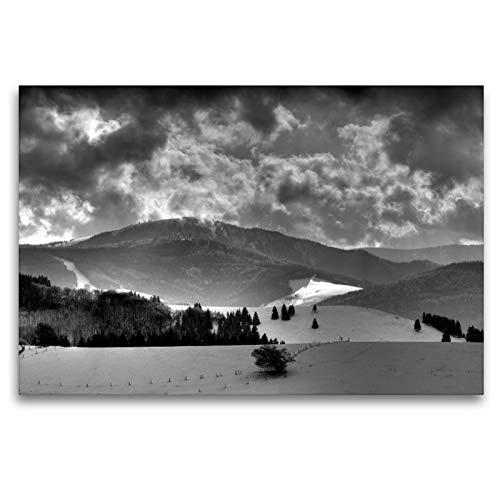 CALVENDO Premium Textil-Leinwand 120 x 80 cm Quer-Format Blick zum Feldberg - Schwarzwald, Leinwanddruck von Ingo Laue