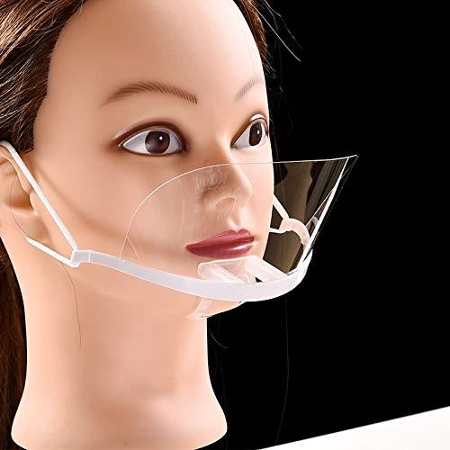HELIn Maschera di Protezione della Salute Schermo di Protezione visiva Anti-Saliva 10 Pezzi Visiera Trasparente in plastica Trasparente Anti-spruzzo Anti-Olio Uomo Donna Chef