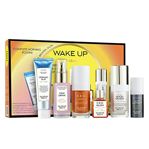 Sunday Riley Wake Up With Me Complete Brightening Morning Routine Kit