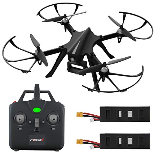Force1 F100 RC Drone with GoPro Mount – F100 MJX Bugs 3 Go Pro Compatible Drones w/ Brushless Quadcopter Motors, 2 Batteries (Camera Not Included)