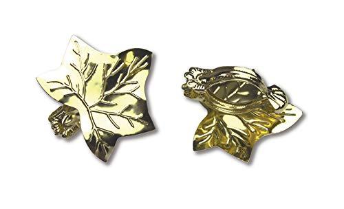 Donauklammern, Raffklammern, Gardinenklammern Motiv Blatt 2 Stück Farbe Messing
