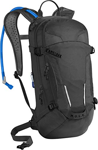 M.U.L.E. Mountain Biking Hydration Pack - Easy Refilling Hydration Backpack - Magnetic Tube Trap - 100 oz., Black