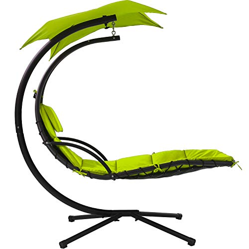 Patio Chair Lounger Chair Hanging Chaise Floating Chaise Canopy Swing...