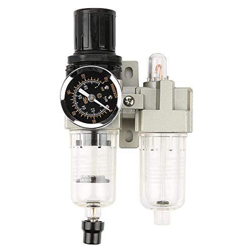 Pyrojewel Filtro de aire Regulador G1 / 4 / min Fuente de aire Unidad de Tratamiento de Gas 500L Presión Filtro regulador con indicador Herramientas industriales