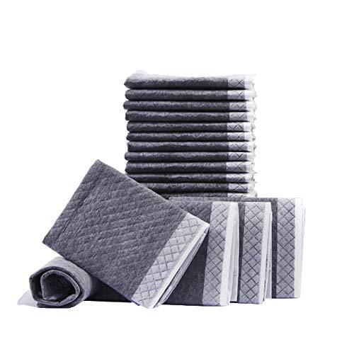 Empapadores de adiestramiento para Perro,Almohadilla Sanitaria de Entrenamiento para Mascotas-carbón de bambú 33 * 45cm / 100pcs,Alfombrillas Muy absorbentes para Proteger el Suelo