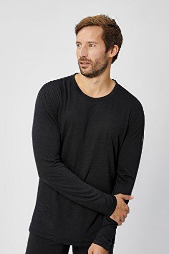 Super natural 140 T-Shirt Fonctionnel à Manches Longues pour Homme 54 Schwarz (Caviar15)