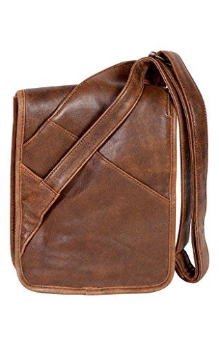 Scully Squadron Small Travel Messenger Brown One Size