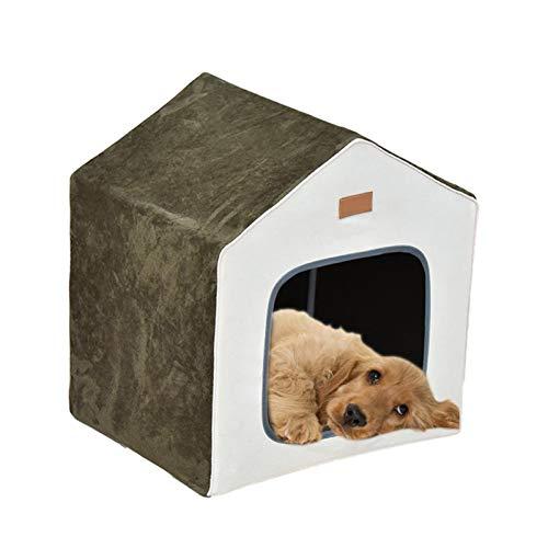 Wenhe Pet House - Caseta de perro desmontable semicerrada pa