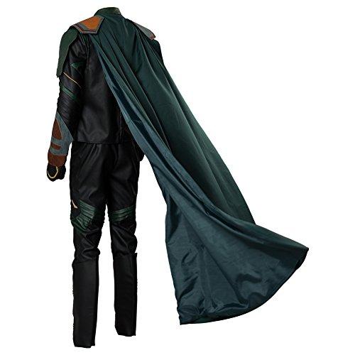 Thor 3 Ragnarok Loki Outfit Cosplay Costume Uomo M