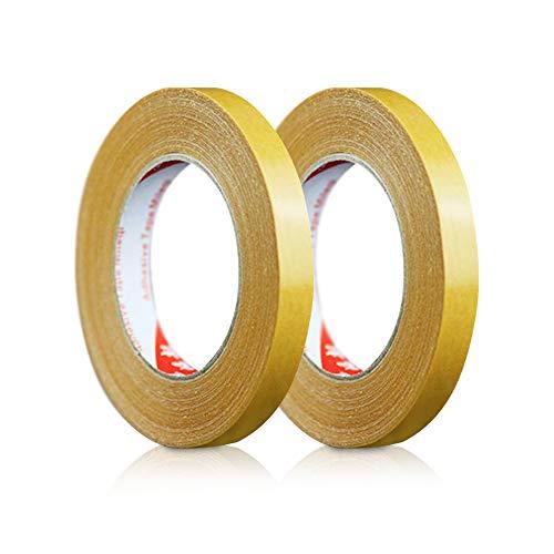 SUNNY カーペット固定テープ 2個セット 15mm×20m 強力両面テープ 半透明 マット 絨毯用 布繊維 跡が残りにくい 接着剤の代わり イベント DIY オフィス 結婚式 レストラン 展示会に