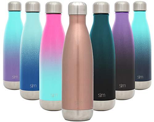 Simple Modern Wave 500ml Botella De Agua - Acero Inoxidable 18/8, Doble...
