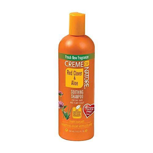Creme of Nature Shampoing apaisant pour cheveux secs et cuir chevelu squameux, trèfle rouge et aloe, 430,9 g