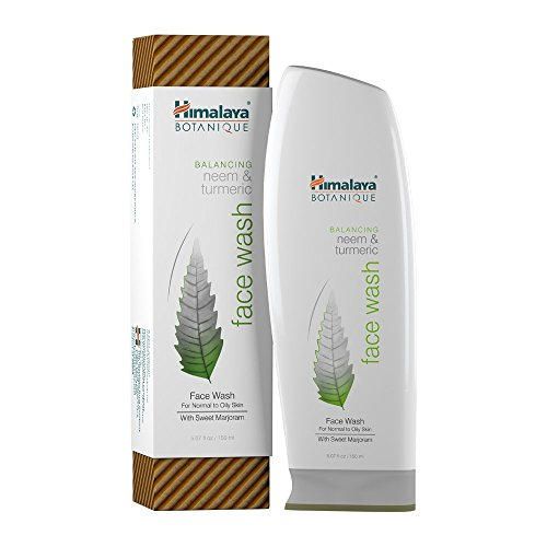Himalaya Botanique Balancing Neem & Turmeric Face Wash, Deep Cleaning Pore Cleanser for Oily and Acne Prone Skin, 5.07 oz