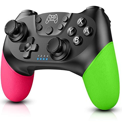 Zexrow Controller für Switch, Bluetooth Wireless Pro Controller für Switch/Switch Lite mit Vibration und Turbo Funktion Achse Sensor