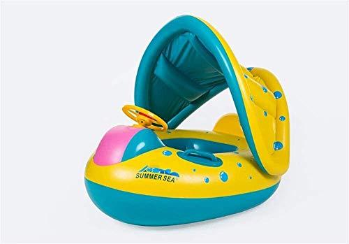 Asiento inflable de natación piscinas for niños piscina inflable Jardín Juguetes for niños Barco de seguridad for niños anillo inflable de la natación Natación del cisne anillo flotante entre padres e