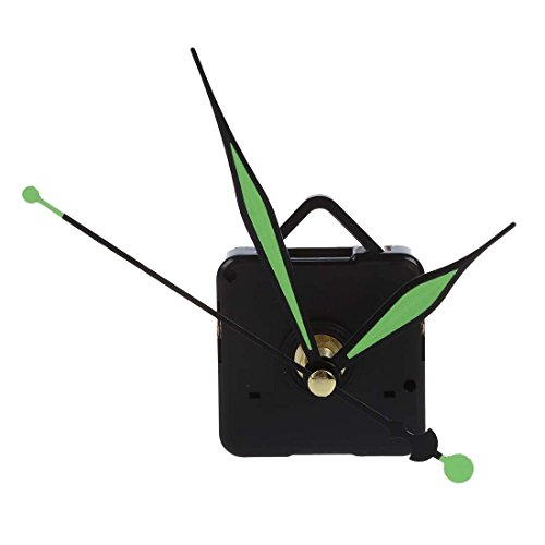 SODIAL(R) Maquinaria de Cuarzo de Reloj con Agujas en verde Relojero